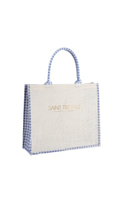 Sac Cabas Vichy (Bleu)