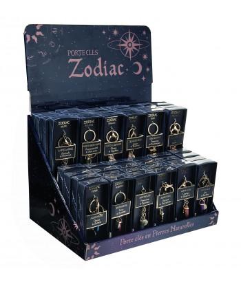 Présentoir 48 Porte-clés Zodiac Prisme Hexagonal